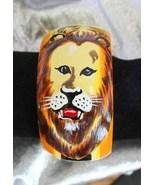 Wonderful Bohemian 80s Handpainted Wooden Lion ... - $24.95