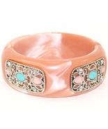 Monique Leshman Gemstone Coral Colored Bangle B... - $64.99