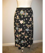 Sag Harbor Black Floral Skirt Size 12 NWT - $19.00