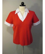 Hampshire Studio Red Short Sleeve Knit Top Size... - $19.00