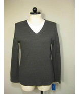 Karen Scott Sport Gray Sweater Size L NWT - $19.00