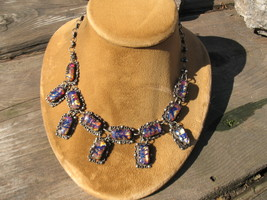 Old Taxco Art Deco drop link Necklace Mexico St... - $200.00