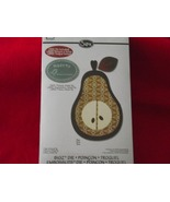 Sizzix Bigz die Pear and bonus Made By phrase d... - $17.99