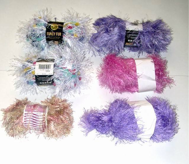 Eyelash Yarn : Assorted Colors Fun Fur Eyelash Yarn 6 Skeins - Eyelash