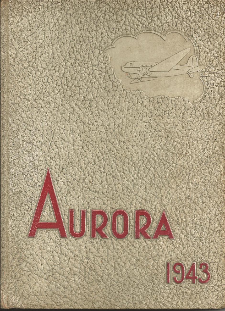 "1943 Union High School Yearbook from Grand Rapids, MI called ""The Aurora"""
