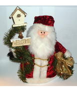 Welcome Santa with Birdhouse and Wreath Holiday... - $12.99