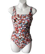 US 10 GB 12 Gottex One Piece Swimsuit Mosaic Bl... - $24.99