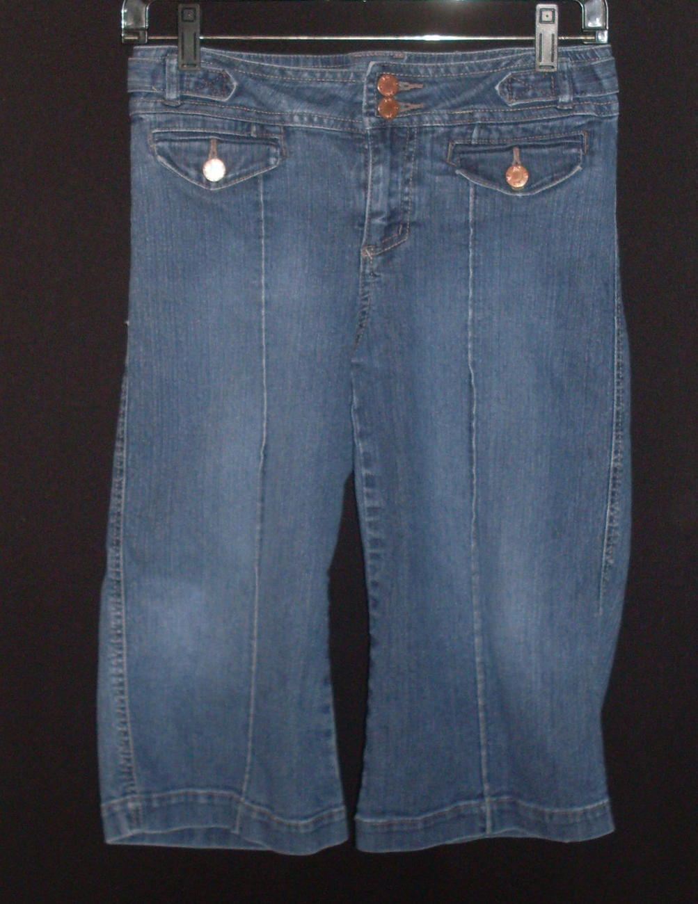 Jolt Pintuck Seam Crop Stretch Jean Girls Size 14