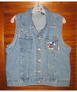 Womens Size Small Denim Mickey Mouse Vest Feeli... - $20.00
