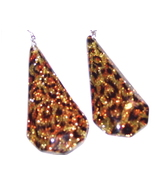ANIMAL PRINT TEARDROP EARRINGS - $3.15
