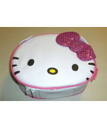 HELLO KITTY PINK SEQUIN BOW CANVAS INSULATED SO... - $9.99