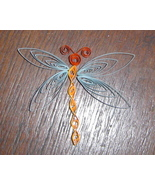 Paper Quill Dragonfly Magnet- Handcrafted - $2.50