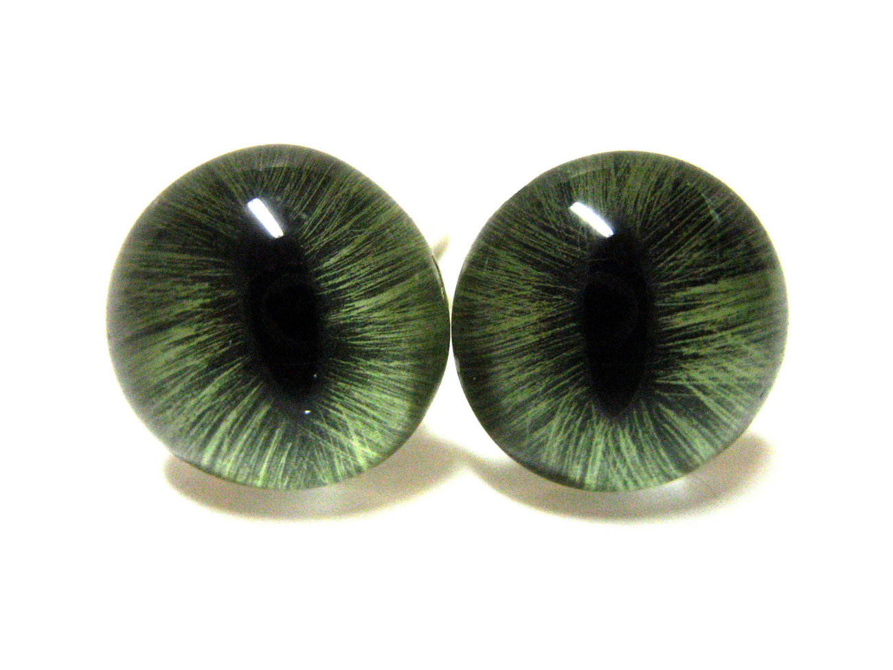 Green Cat Eye Cufflinks