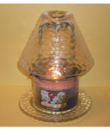 Clear Teardrop Candle shade and plate set by Ya... - $16.99