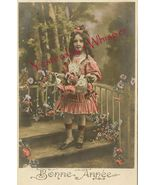 Edwardian YOUNG GIRL Ringlets French ORG postca... - $9.99