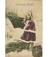 Edwardian YOUNG GIRL Rain Umbrella FRENCH postc... - $9.99