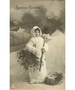 Edwardian Young Child BASKET Gifts FRENCH postc... - $9.99