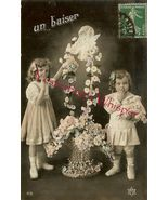 Edwardian YOUNG Sisters FLOWER French ORG postc... - $9.99