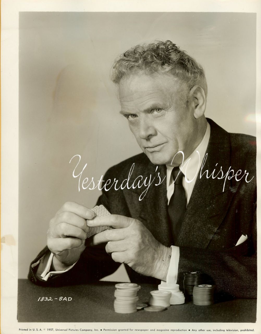 Charles BICKFORD Poker MISTER Cory ORG Universal PHOTO