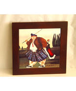Jennifer Garant Framed Ceramic Golfer Tile  - $11.85