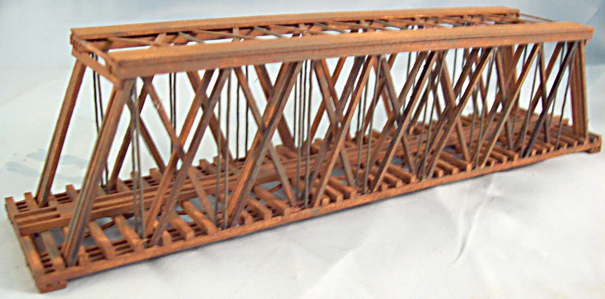HO Scale Custom Built 120 Foot Howe Truss Bridge from Scratch