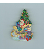 Christopher Radko Santa Sleigh Christmas Brooch... - $22.99
