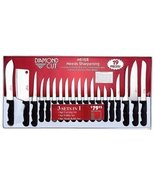 Diamond Cut 19 piece Cutlery Set in White and R... - $25.97