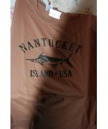 NWT NANTUCKET ISLAND USA Brown T Shirt XL - $14.00