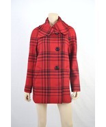 NWT $189 Jone New York Signature Plaid Asymmetrical Wool coat M