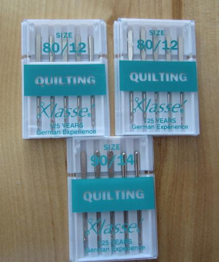 Klasse Quilting Needles Size 80/12 and Size 90/14