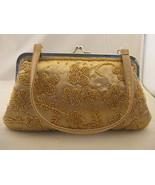 Satin And Beaded Golden Yellow Evening Bag NWT - $11.00