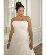 #2022 / Plus Size Wedding Dresses / Beaded & Ru... - $495.00