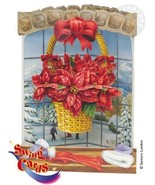 Holiday Christmas 3D Poinsettia Swing Card NWT - $7.20