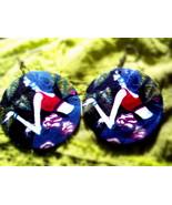 Beautiful Oriental Design shell earrings - $6.50