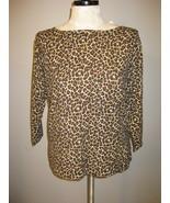 Charter Club Leopard Print Knit Top Size L NWT - $21.00