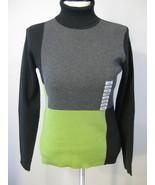 Style & Co Color Blocked Turtleneck Sweater Siz... - $21.00