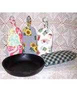 Handy Pot Handlers~~Prim Pattern Bz - $11.95