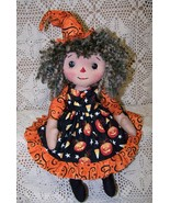 Raggedy Willow Witch Folk Art Doll Pattern Bz - $11.95