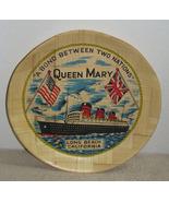 Vintage Queen Mary Bamboo Souvenir Tray Long Be... - $8.99