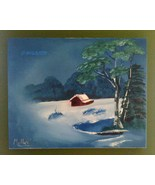 First Snow Original Landscape Oil Painting by D... - $60.00
