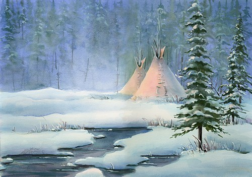 Wonderful PEACEFUL INDIAN TIPI by Sharon Sharpe