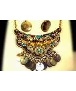 Vintage looking necklace and earrings set - $10.00