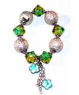 Beautiful big silver bead bracelet - $3.00