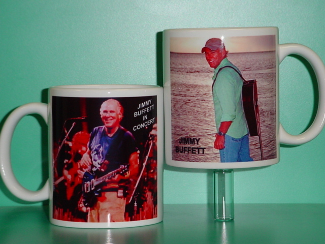 Jimmy Buffett 2 Photo Designer Collectible Mug