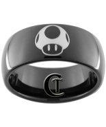 9mm Black Dome Tungsten Carbide Mario Mushroom ... - $49.00