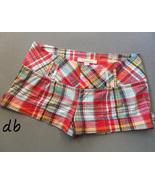 FOREVER 21 twenty one madras PLAID shorts RED b... - $10.00
