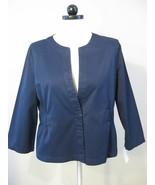 Navy Blue Cotton Long Sleeve Jacket Size XL NWT - $23.00