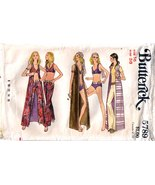 1970's SWIMSUIT COVER-UP & PANTS Pattern 5789-b... - $14.99