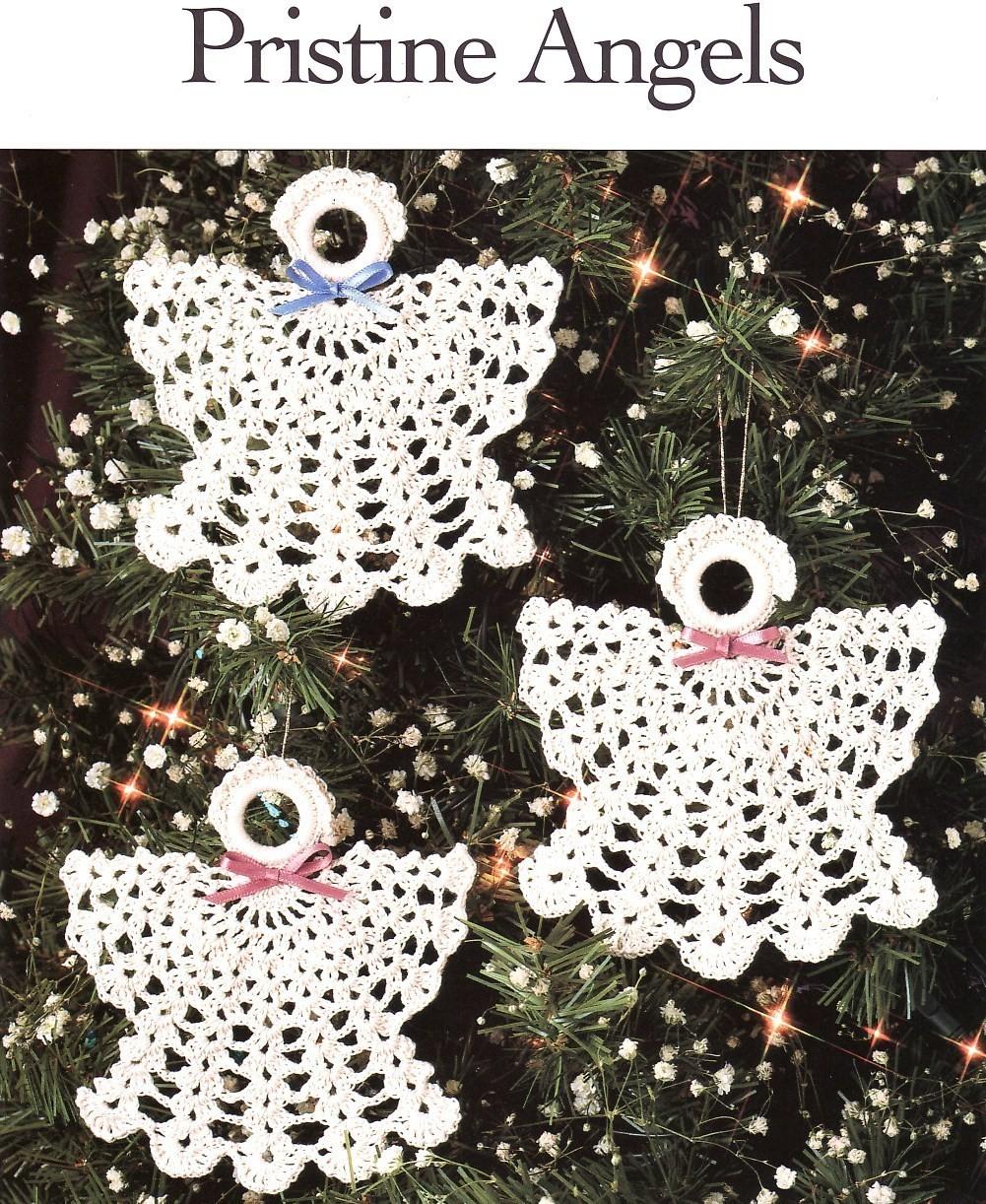 Pristine Angels Crochet Patterns Christmas Ornaments