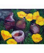 California Orange Poppies Flowers Broken Potter... - $99.00